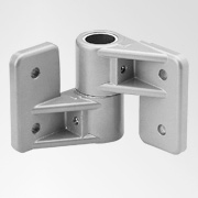 Tubular Connectors: Ø 35 mm: Wall bearing corner fastening 1713a