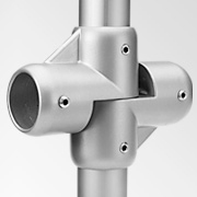 Tubular Connectors: Ø 30 mm: Cross-joint connector 1924f