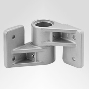 Tubular Connectors: Ø 40 mm: Wall bearing Eckbefestigung 3050
